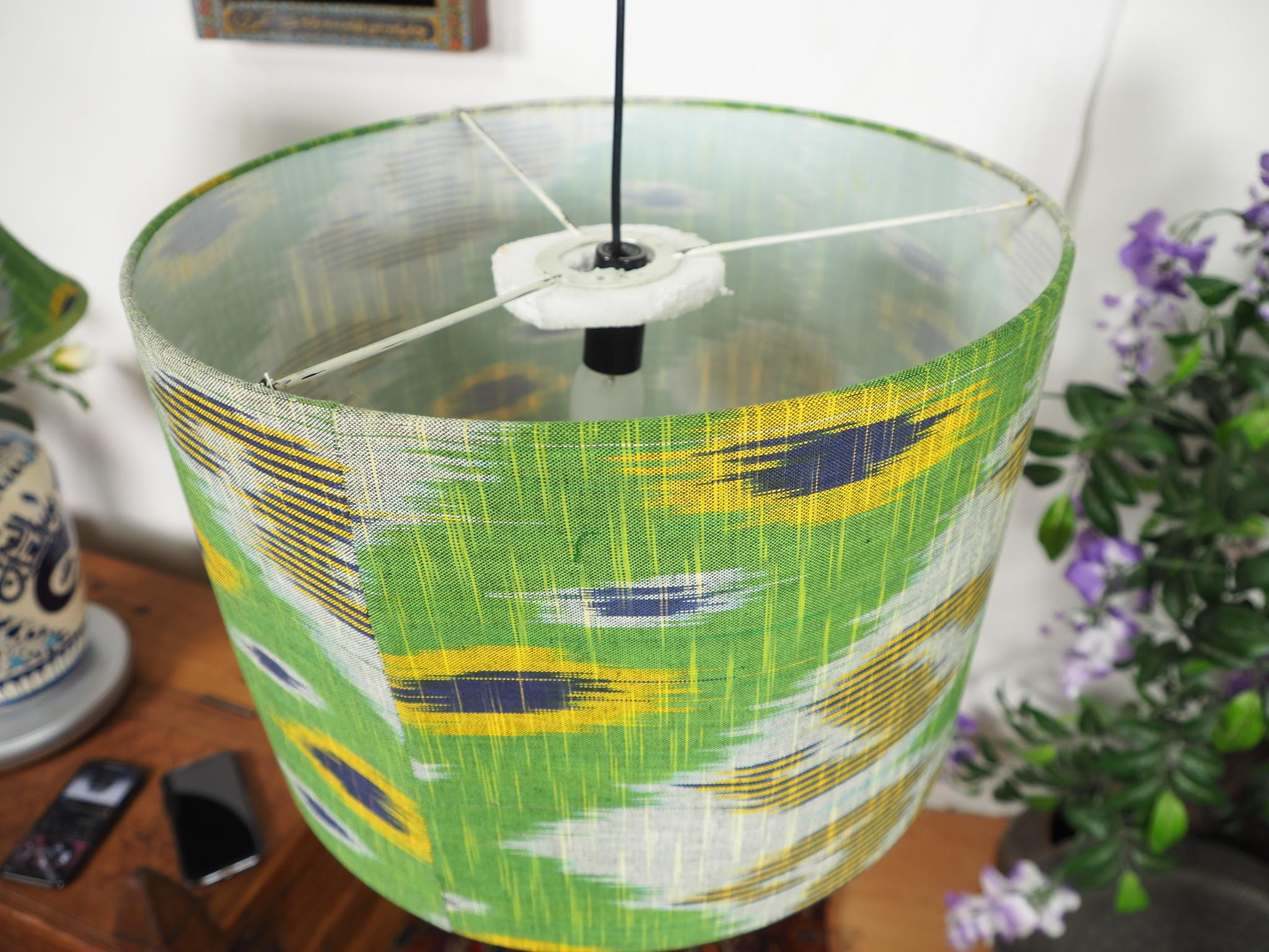 hand made  Unusual Origina Ikat lamp shade from uzbek Ikat No.G