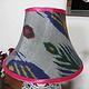 extravagant orient Uzbek Ikat stoff Schirm Lampenschirm Leuchtenschirm lampshade Nr:D
