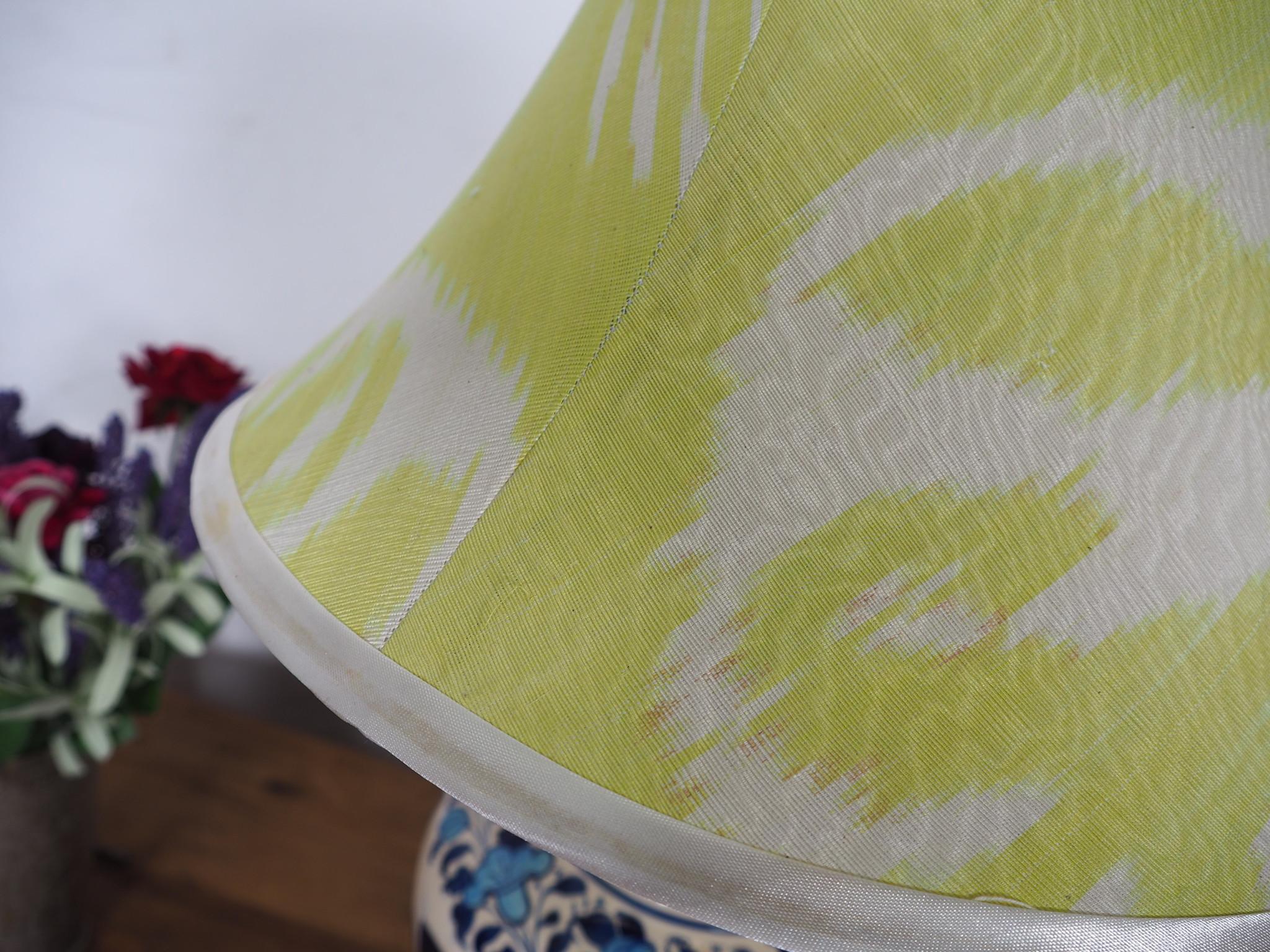 extravagant orient Uzbek Ikat stoff Schirm Lampenschirm Leuchtenschirm lampshade Nr:C