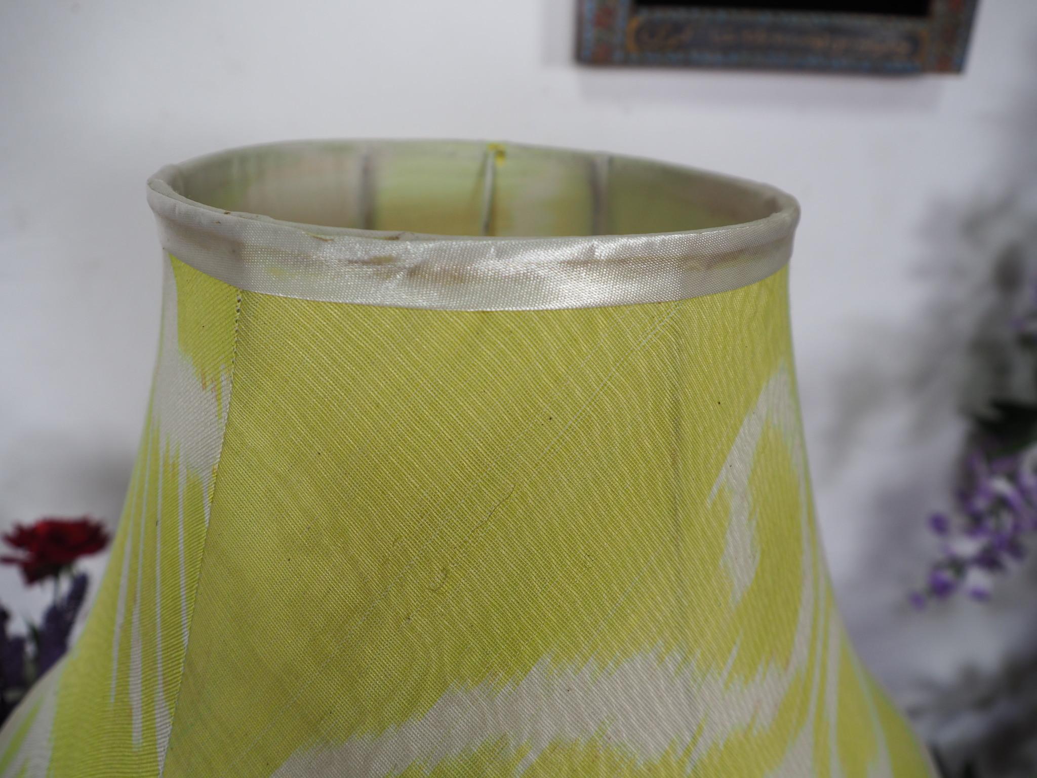 hand made  Unusual Origina Ikat lamp shade from uzbek Ikat No.C