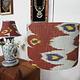 hand made  Unusual Origina Ikat lamp shade from uzbek Ikat No.J