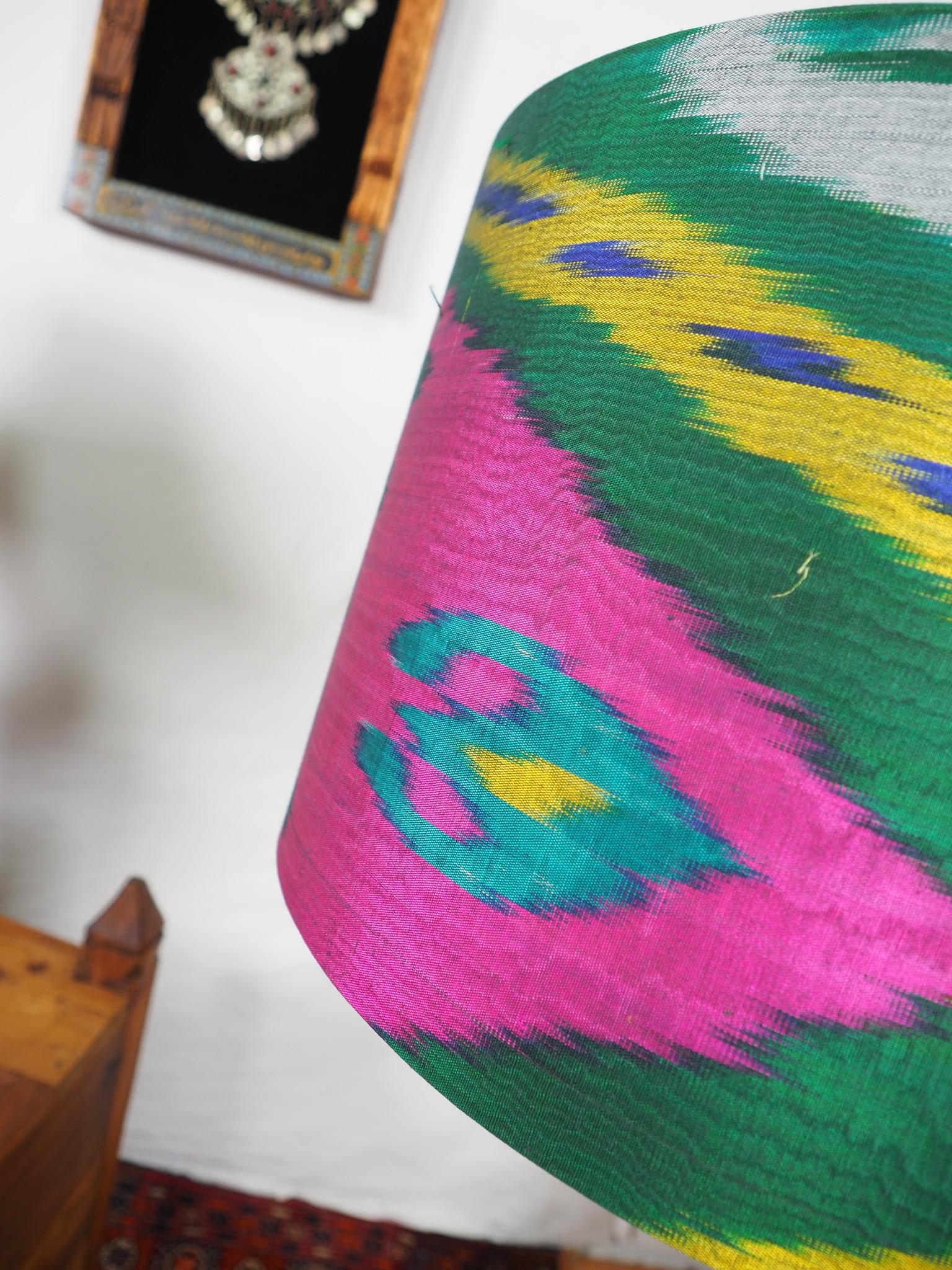 hand made  Unusual Origina Ikat lamp shade from uzbek Ikat No.H