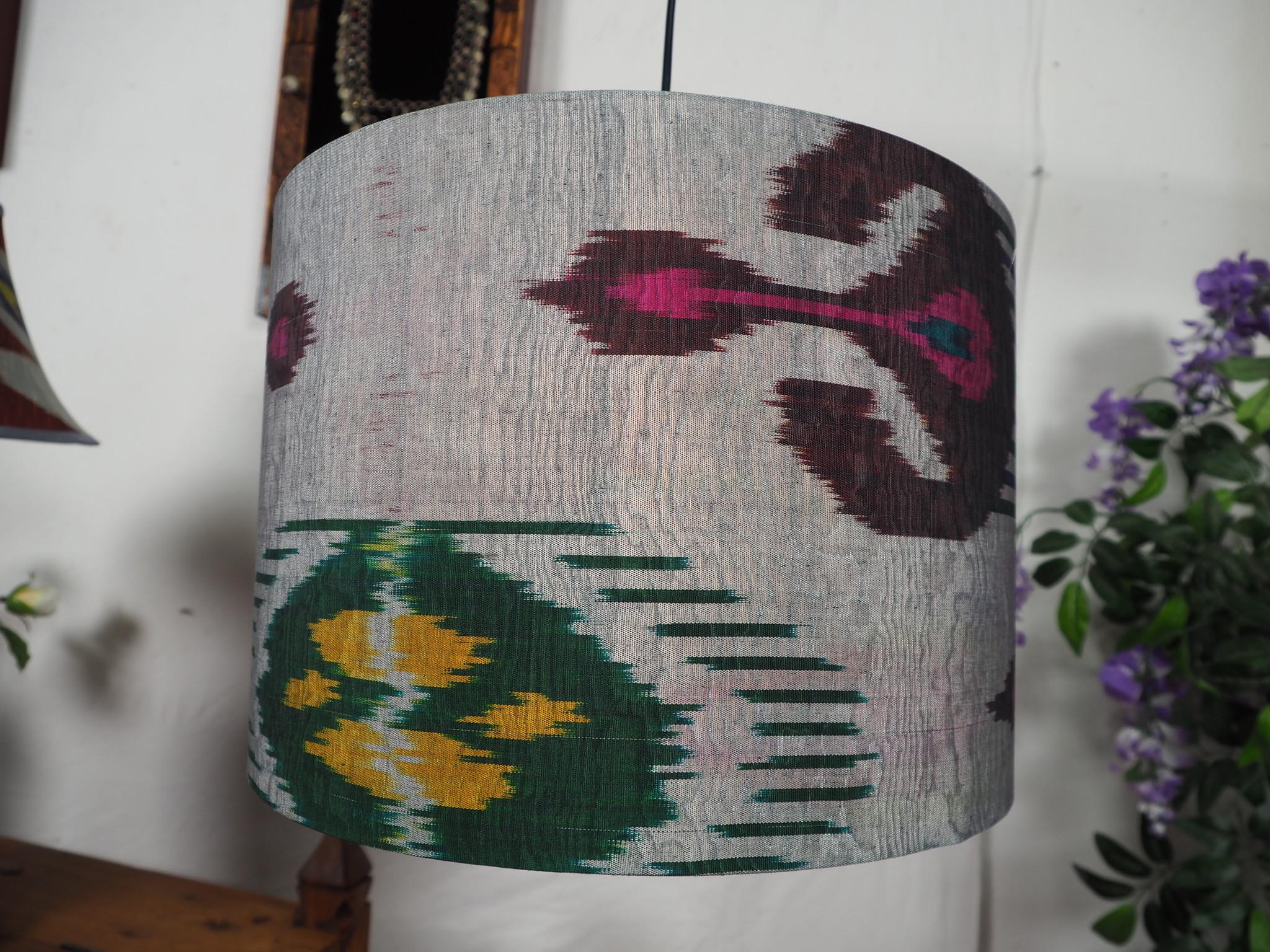 orient Uzbek Ikat stoff Schirm Lampenschirm lampshade Nr: M