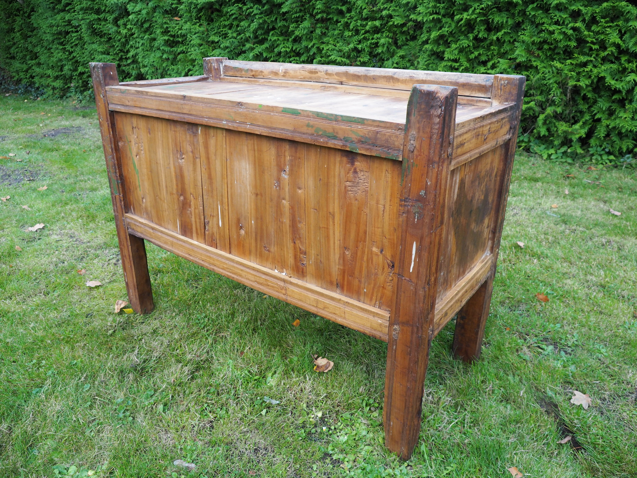 antique 19th century  wooden yurt treasure Dowry Chest from Afghanistan turkmenistan No:BAS1