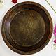 antik orient Holz Tablett teller Antique wooden tray Nuristan Afghanistan ulm/B