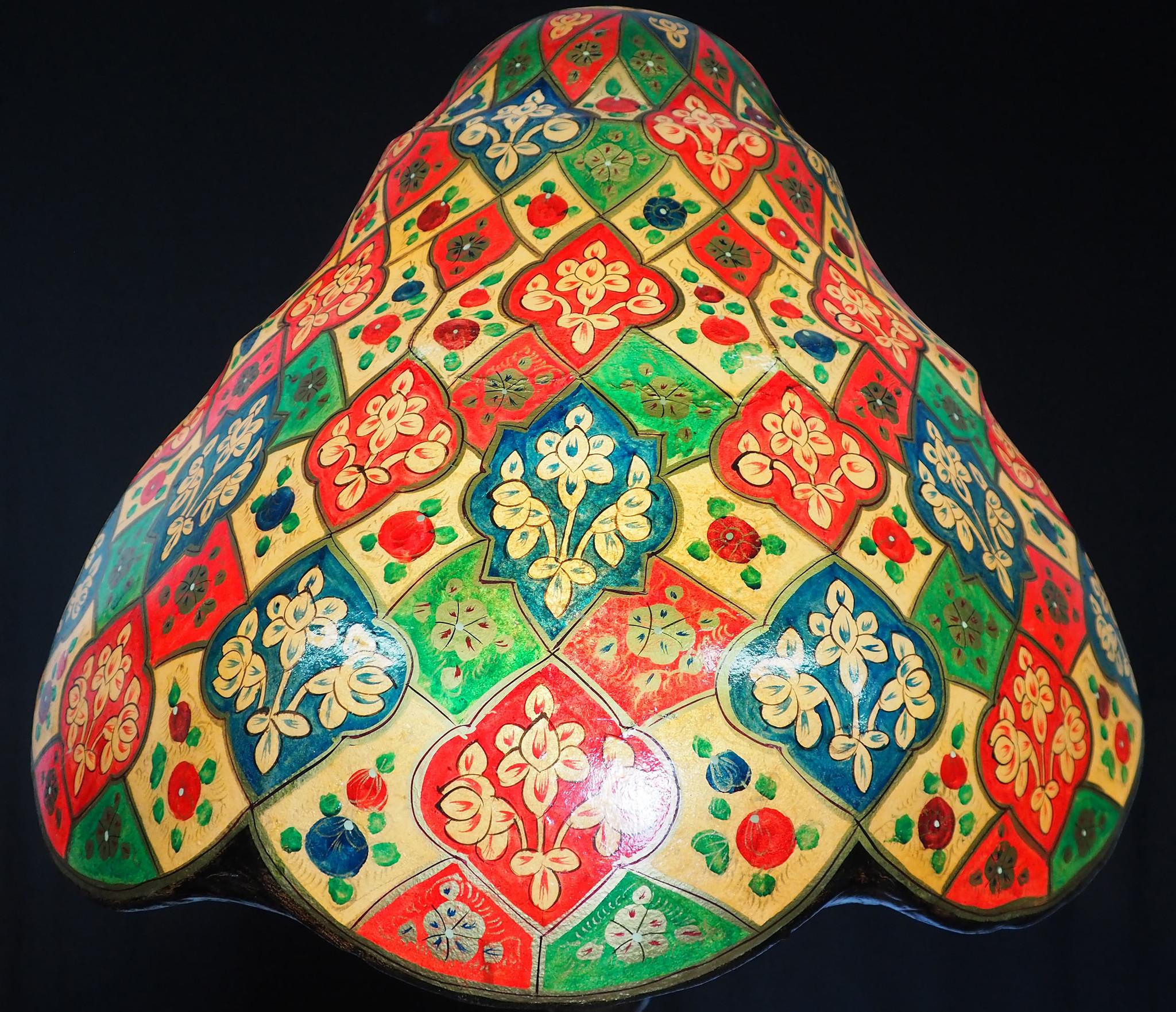 Riesige Kamelleder Lampe XL-B