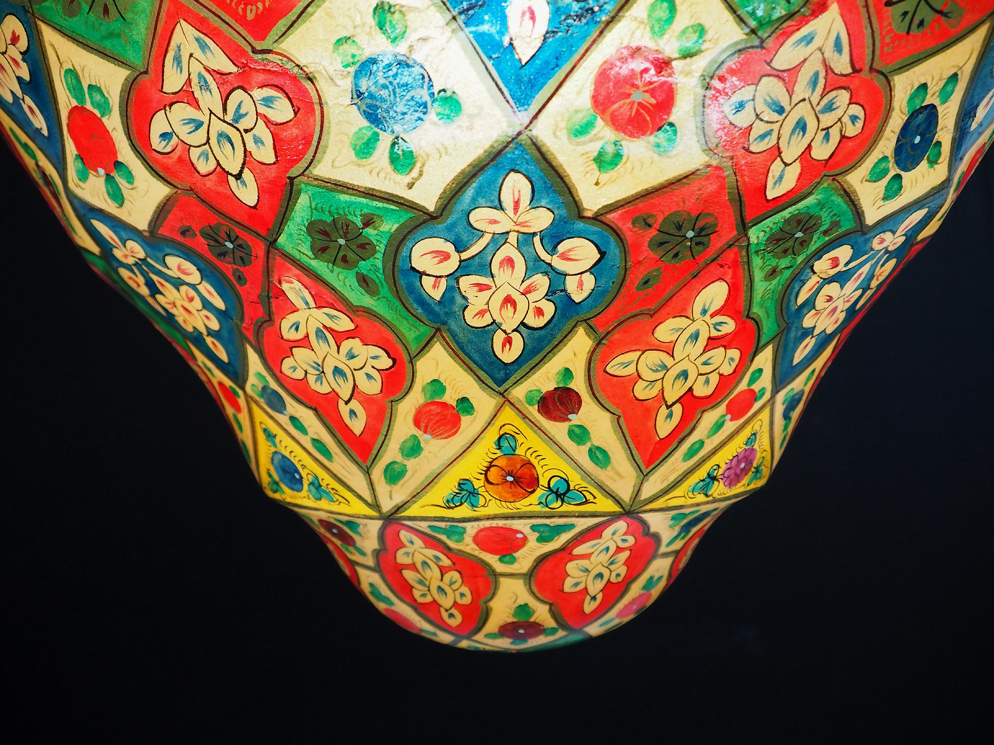 Riesige Kamelleder Lampe XL-d