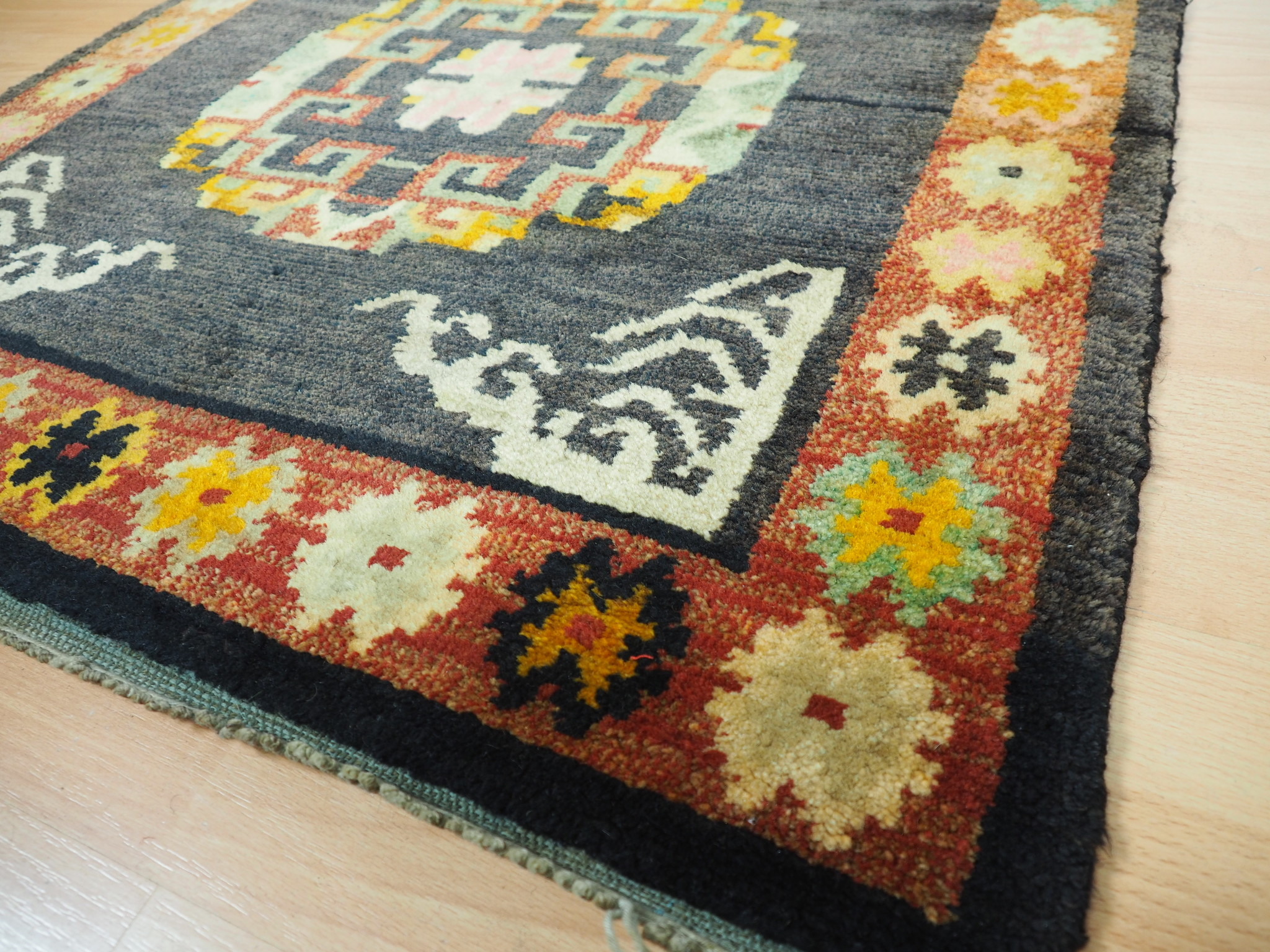 175x88 cm antik Tibetischer Khaden Yoga Meditation Dorfteppich buddhistische Klöster gebetsteppich Teppich Schlafteppich Nr.9