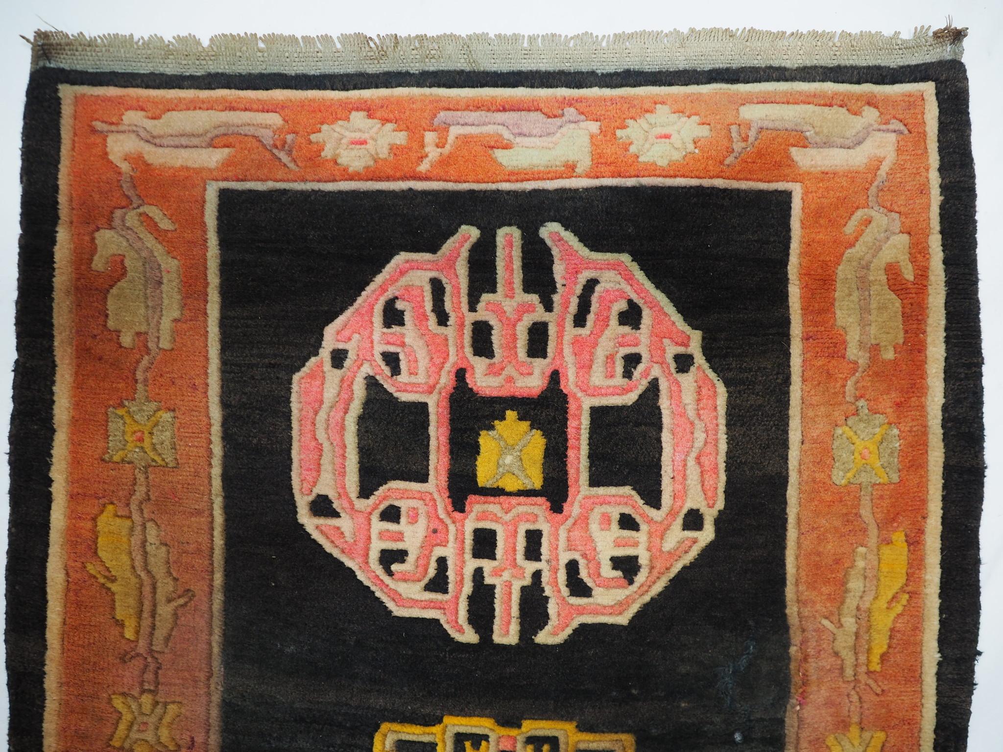 163x98 cm antik Tibetischer Khaden Yoga Meditation Dorfteppich buddhistische Klöster gebetsteppich Teppich Schlafteppich Nr.12