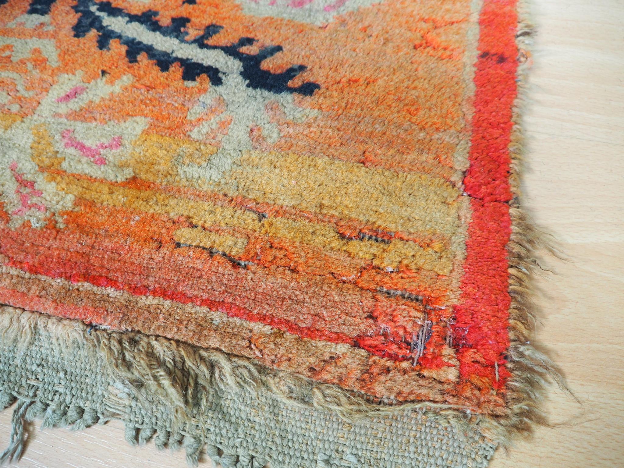 240x64 cm antik Tibetischer Khaden Yoga Meditation Dorfteppich buddhistische Klöster gebetsteppich Teppich Schlafteppich Nr.23