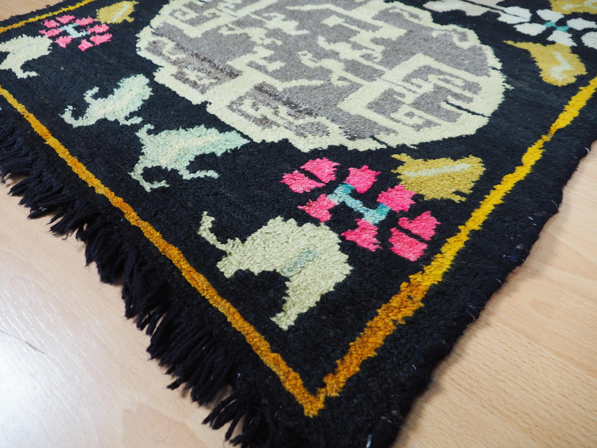 165x82 cm antik Tibetischer Khaden Yoga Meditation Dorfteppich buddhistische Klöster gebetsteppich Teppich Schlafteppich Nr.21
