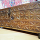 antique 19th century orient vintage cedar wood treasure Dowry Chest from Nuristan Afghanistan NO:20/F