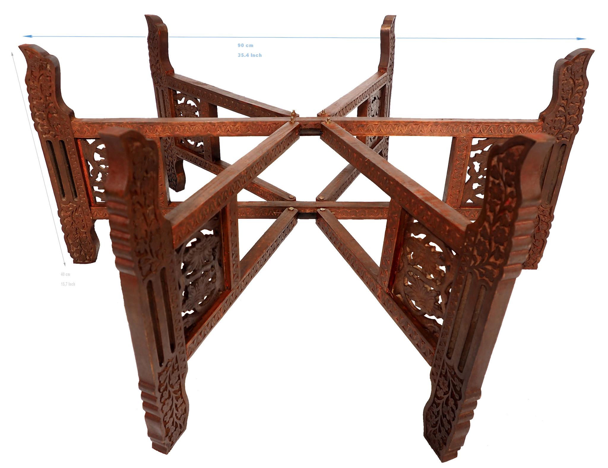 Tischgestell Teetisch zusammenklappbare tisch stand tablett gestell Holzgestell in 6 Größen Auswählbar 40 cm 50 cm 60 cm 70 cm 80 cm 90 cm