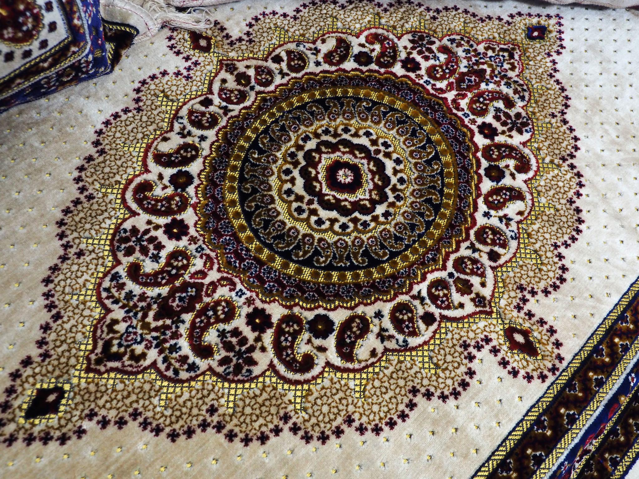Set of 3 Pcs  1x Mattress  + 2x cushions orient Afghan nomad pillow rug seat floor cushion 1001-night Seating  majlis Toshak توشک  (beige)