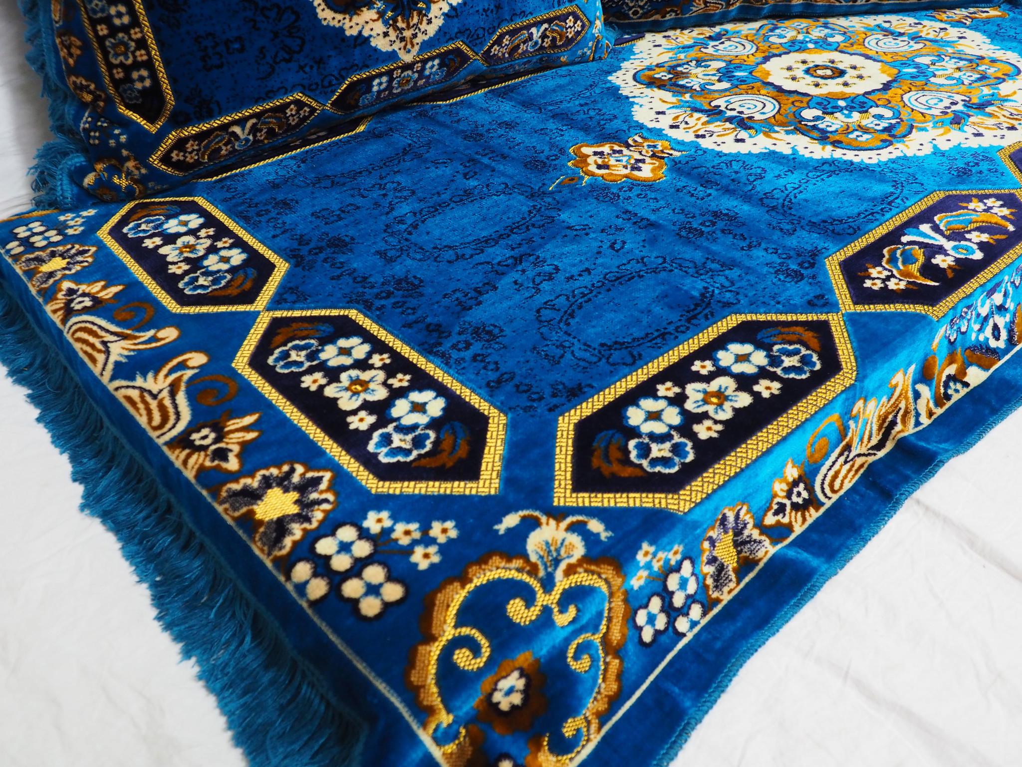 Set of 3 Pcs  1x Mattress  + 2x cushions orient Afghan nomad pillow rug seat floor cushion 1001-night Seating  majlis Toshak توشک