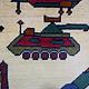 140x95 cm Afghan Kriegteppich Handgeknüpf Teppich Afghanistan panzer kampfjet gewehr USA Army Nato ISAF war rug Nr:AFG21B