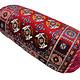 70x25 cm orientalische samtweiche Afghan Teppich nomaden Roll kissen Rollkissen Turkmen cushion 1001-nacht Nackenrolle ( (Bukhara Motiv)