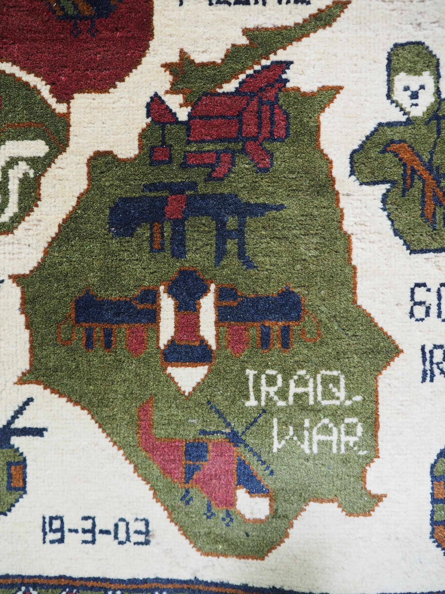 177x79 cm Afghanistan U.S.A 11 september 2001 Newyork world trade center afghan kriegteppich war rug wandteppich orientteppich Nr- WTC 21F