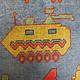 115x78 cm Afghan Kriegteppich Handgeknüpf Teppich Afghanistan panzer kampfjet gewehr USA Army Nato ISAF war rug Nr:AFG21H