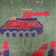 120x83 cm Afghan Kriegteppich Handgeknüpf Teppich Afghanistan panzer kampfjet gewehr USA Army Nato ISAF war rug Nr:AFG21i