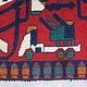 76x59 cm Afghan Kriegteppich Handgeknüpf Teppich Afghanistan panzer kampfjet gewehr USA Army Nato ISAF war rug Nr:AFG21L