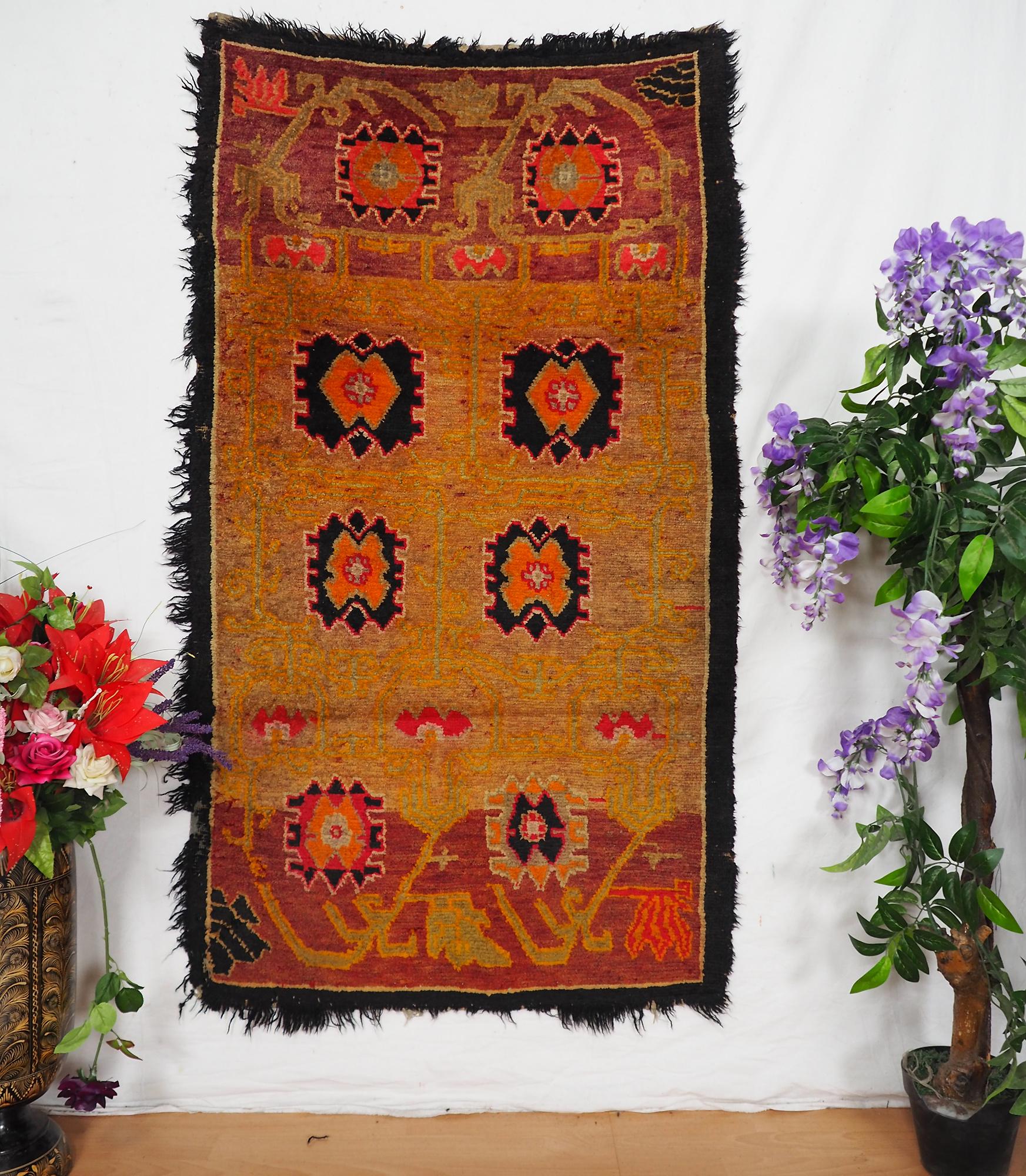 antik Tibetischer Khaden Yoga Meditation Dorfteppich buddhistische Klöster gebetsteppich Teppich Schlafteppich Nr.10