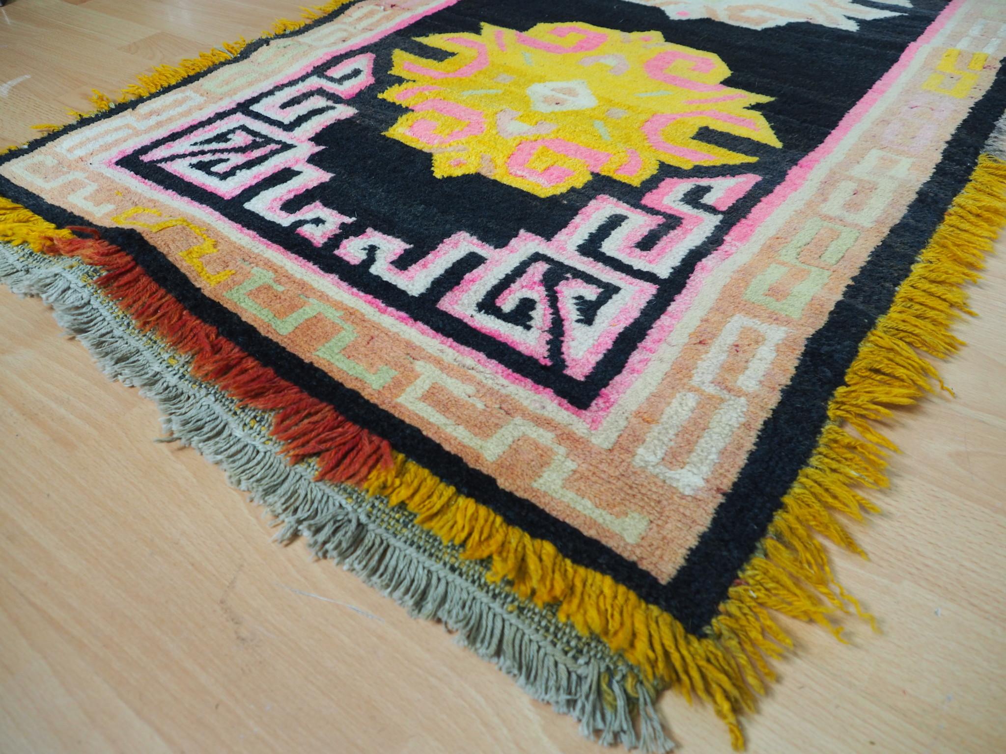 antik Tibetischer Khaden Yoga Meditation Dorfteppich buddhistische Klöster gebetsteppich Teppich Schlafteppich Nr.9 5
