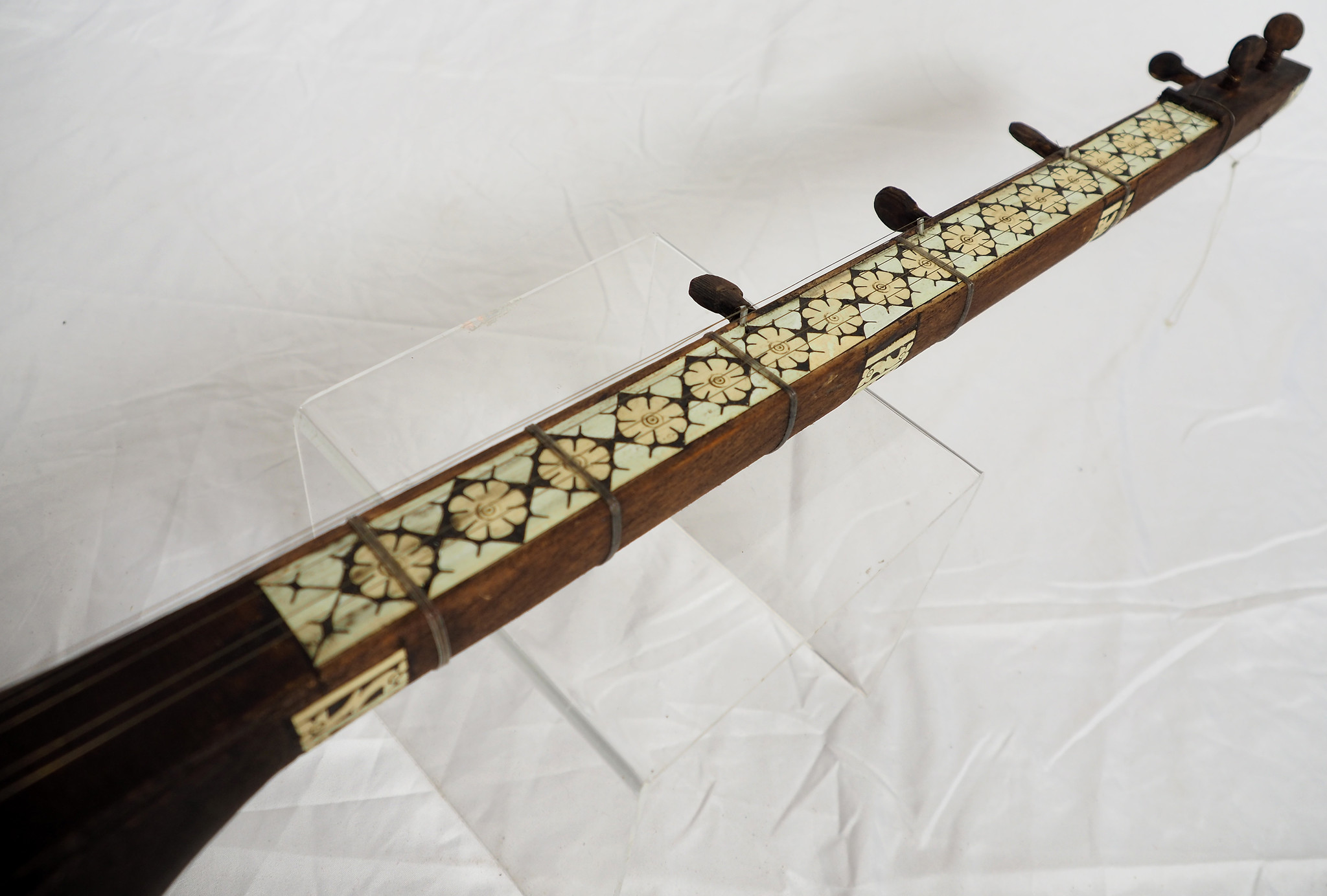 afghan folk music instrument Tambur Tanbur tanboor from Afghanaistan  Bone inlay  تنبور No:21/B