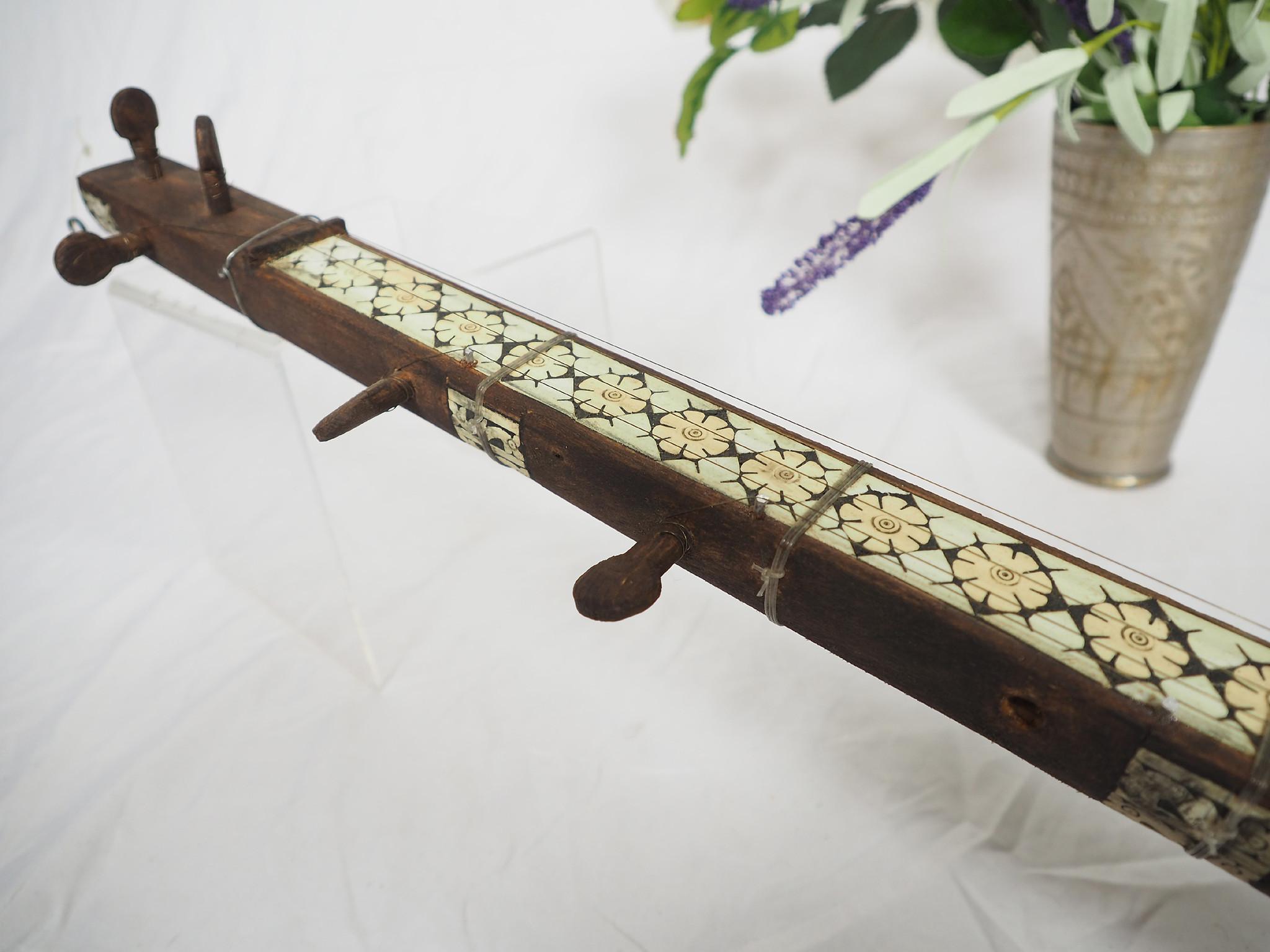 small afghan folk music instrument Tambur Tanbur tanboor from Afghanaistan with Bone inlay تنبور No:21/F