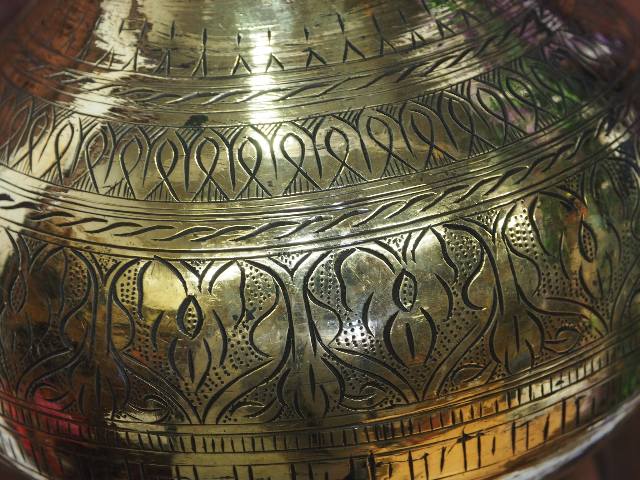 2,5 Liter antik orient Massiv Messing Ayurveda Shirodhara Stirnguss Stirnölguss öl-Therapie Panchakarma Yoga Dhara Vessel gefäß -Nr: 21/ 12