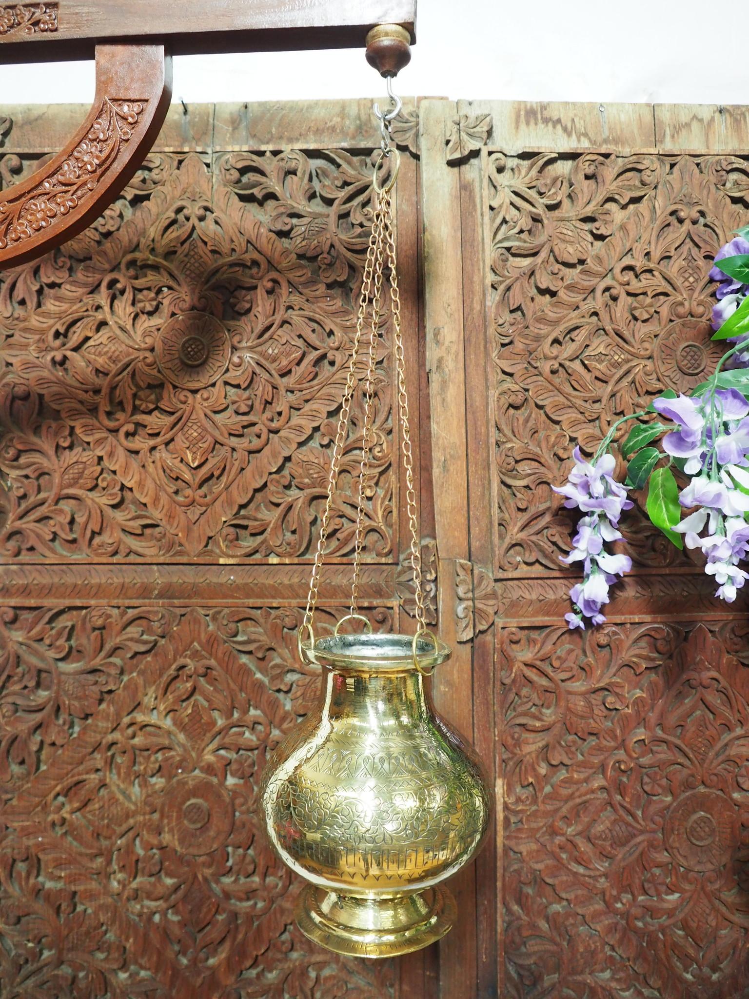 2,5 Liter antik orient Massiv Messing Ayurveda Shirodhara Stirnguss Stirnölguss öl-Therapie Panchakarma Yoga Dhara Vessel gefäß -Nr: 21/13
