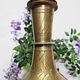 antik ungewöhnlich islamische handgraviert massiv messing Vase als Tischlampe aus Afghanistan ( ohne lampenschirm und Deko artikel Nr:6