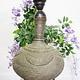 antik ungewöhnlich islamische handgraviert massiv Kupfer Vase als Tischlampe aus Afghanistan ( ohne lampenschirm und Deko artikel Nr:1