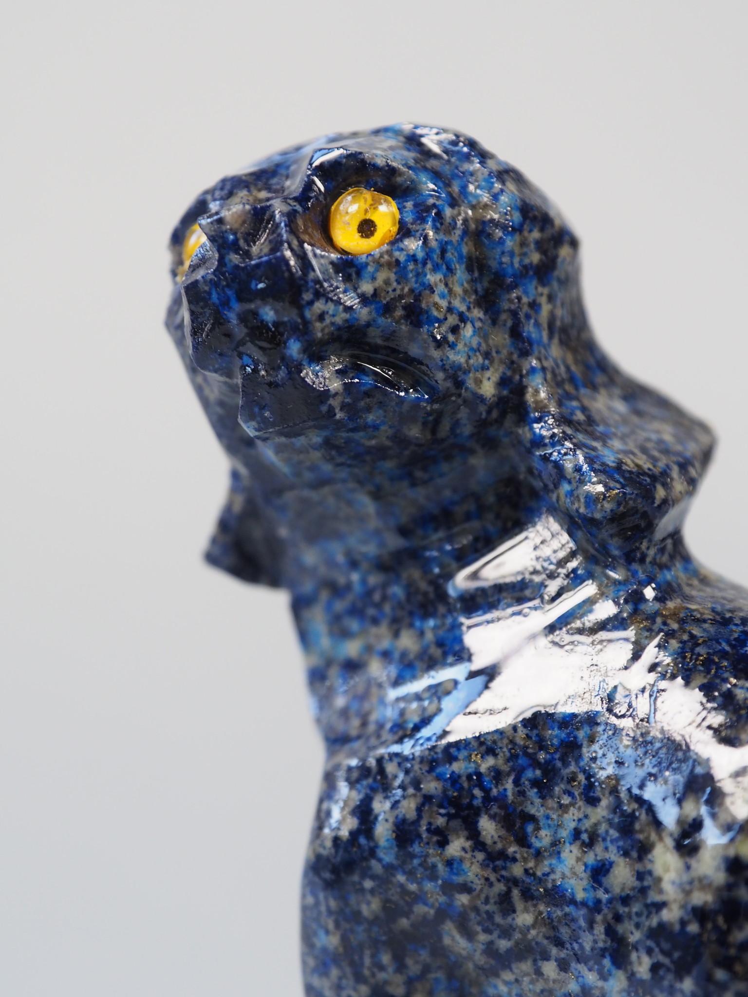 Extravagant Royal blau Lapis lazuli  tier figur briefbeschwere Hund Nr:21/9