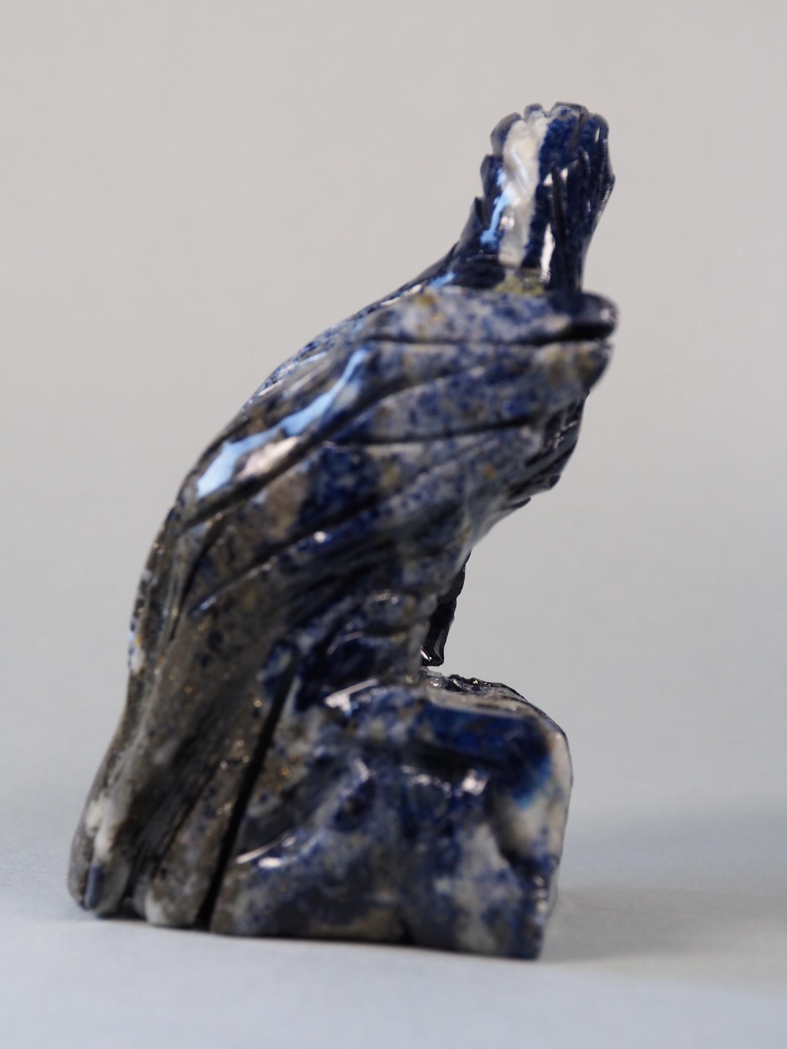 Extravagant Royal blau Lapis lazuli  tier figur briefbeschwere Adler Nr:21/ 10