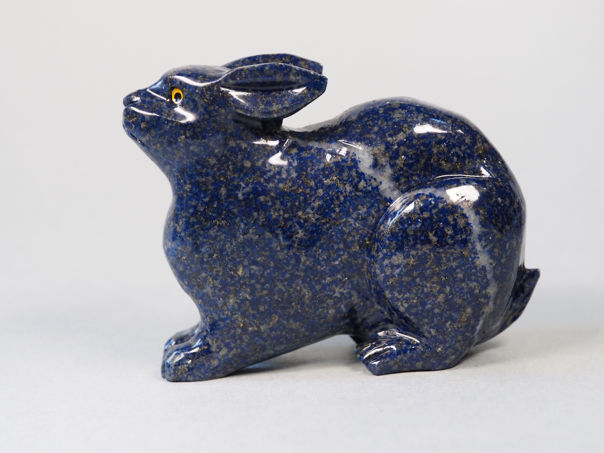 Extravagant Royal blau Lapis lazuli  tier figur briefbeschwere Hase Nr:21/13