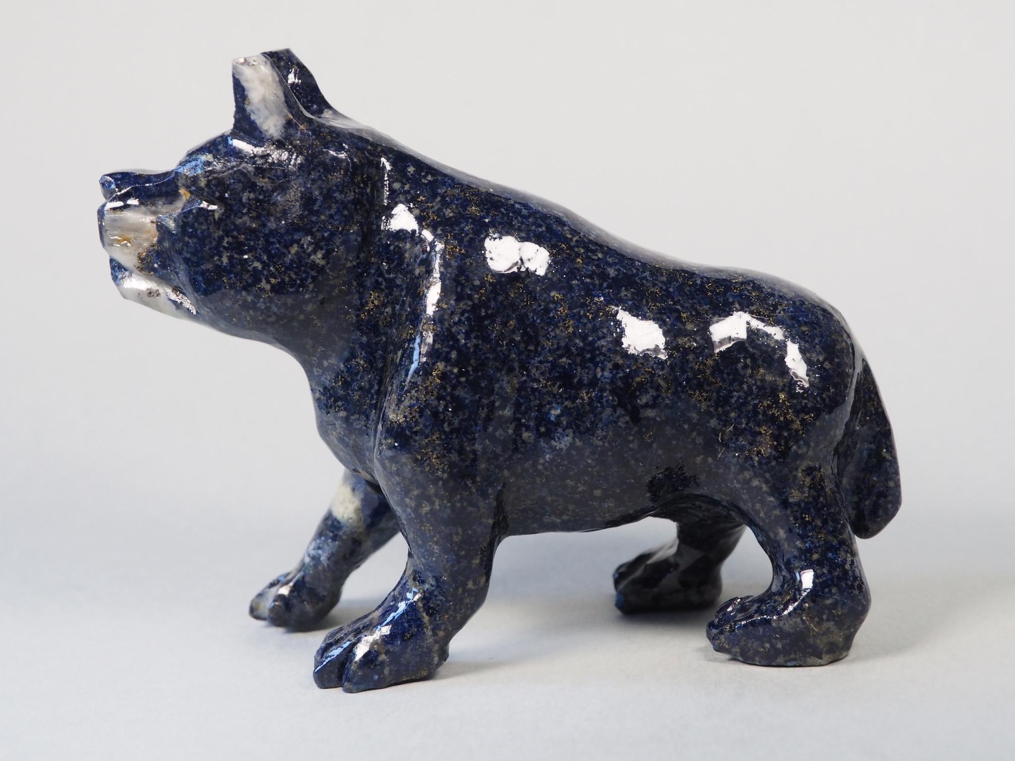 Extravagant Royal blau Lapis lazuli  tier figur briefbeschwere Hund Nr:21/19