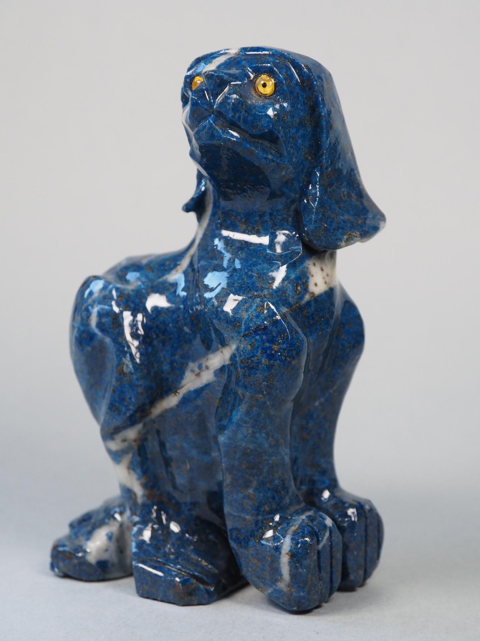 Extravagant Royal blau Lapis lazuli  tier figur briefbeschwere Hund Nr:21/ 23