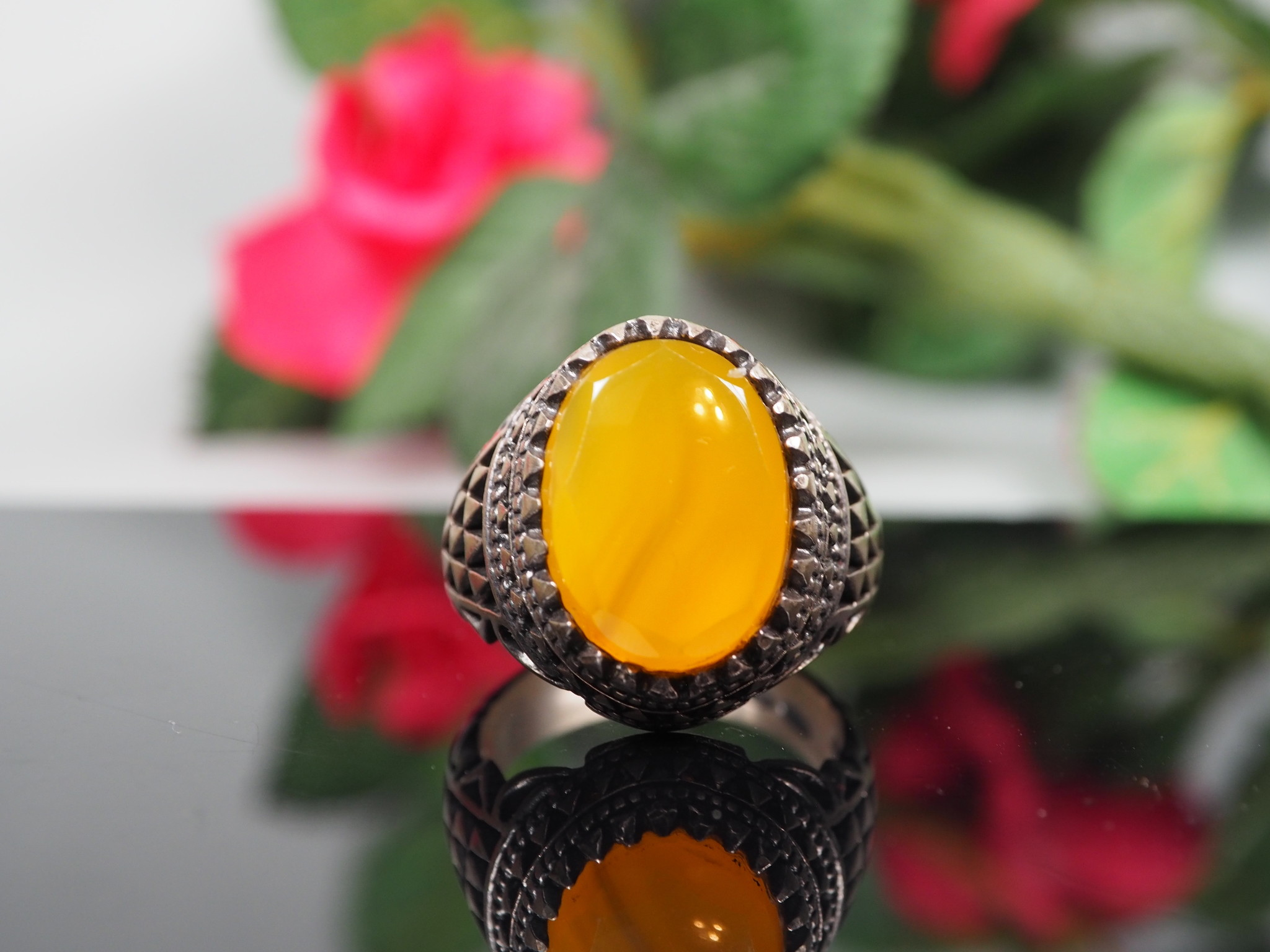 orient Massive silber Ring Turkmen Karneol Achat Afghan statement ring aus Afghanistan AQEEQ Nr- WL21/7