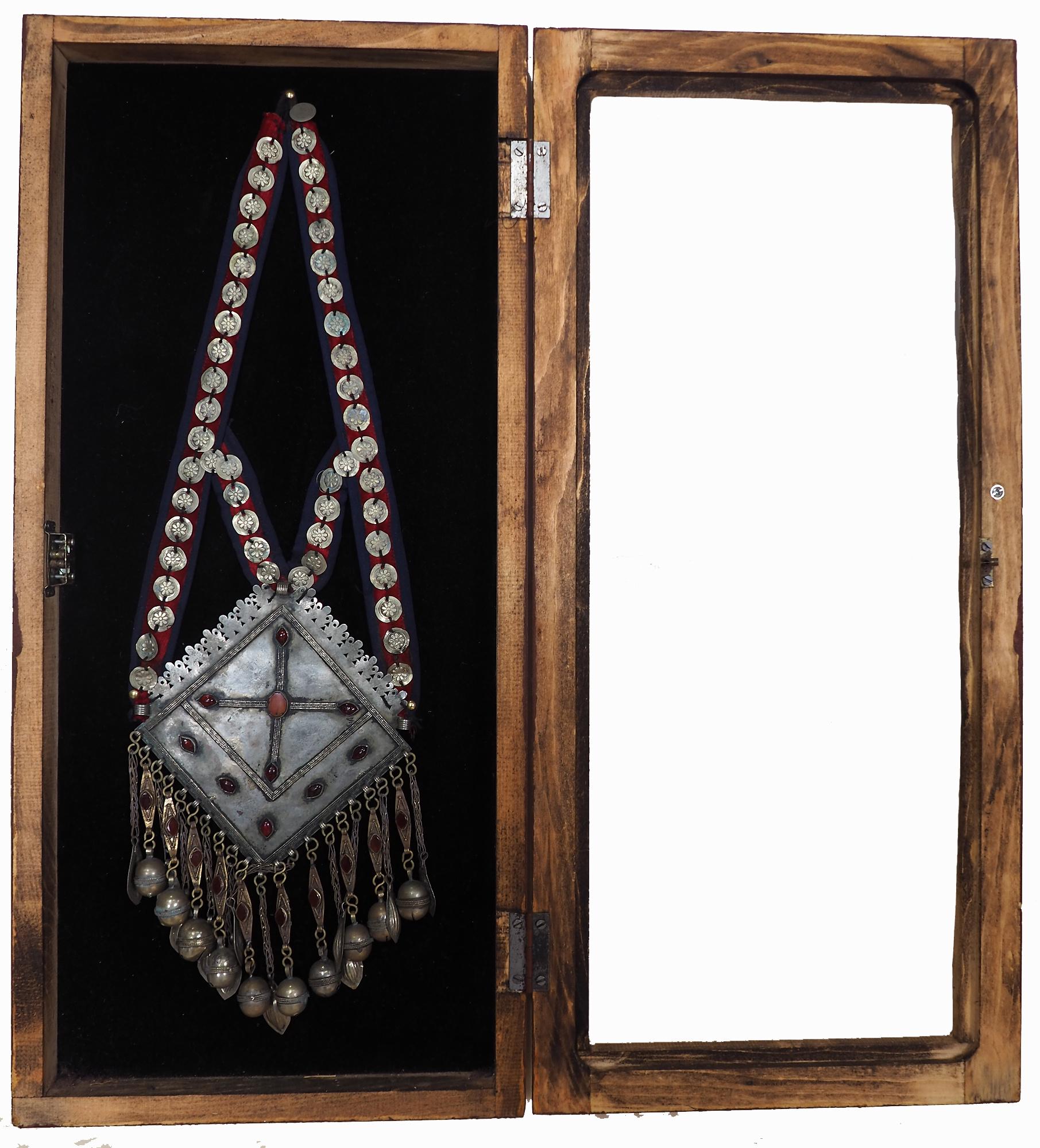 Wandvitrine Hängevitrine aus Afghanistan mit antike nomaden Schmuck Orient Geschenk  20/A