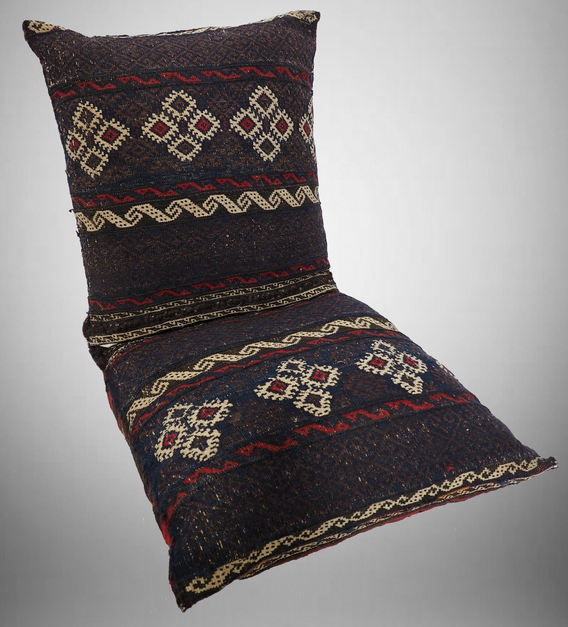 110x50 cm orient BelutschistanTeppich nomaden sitzkissen bodenkissen cushion Doppeltasche Satteltasche (Khorjin) Torba Inkl Füllung 21/11