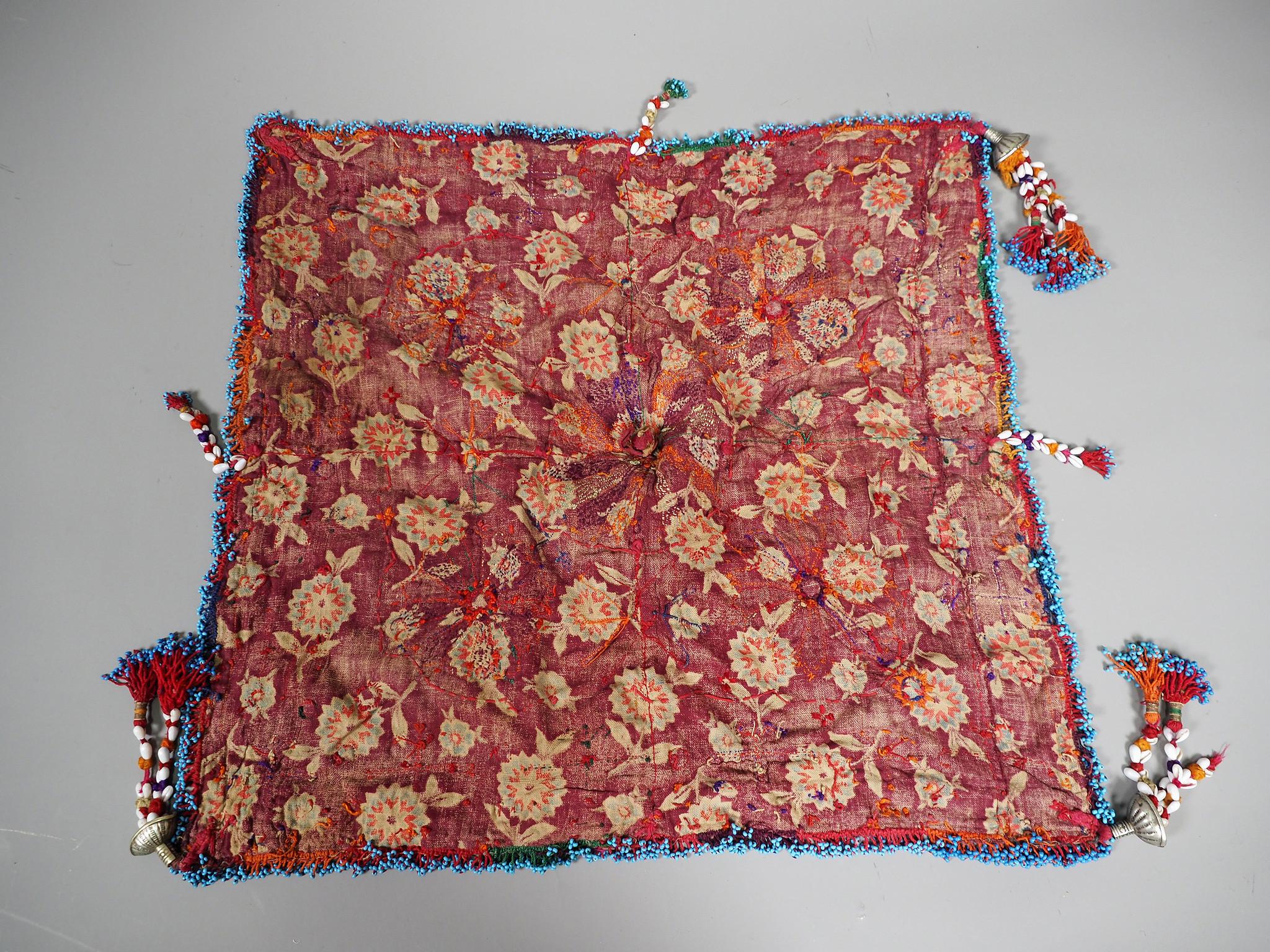 hand embroidered banjara groom wedding headdress Sindh Pakistan. No:21/1