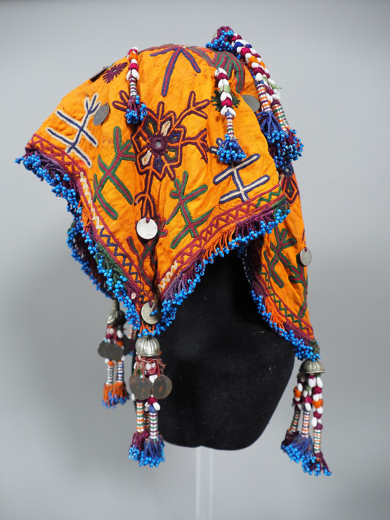 hand embroidered banjara groom wedding headdress Sindh Pakistan. No:21/3