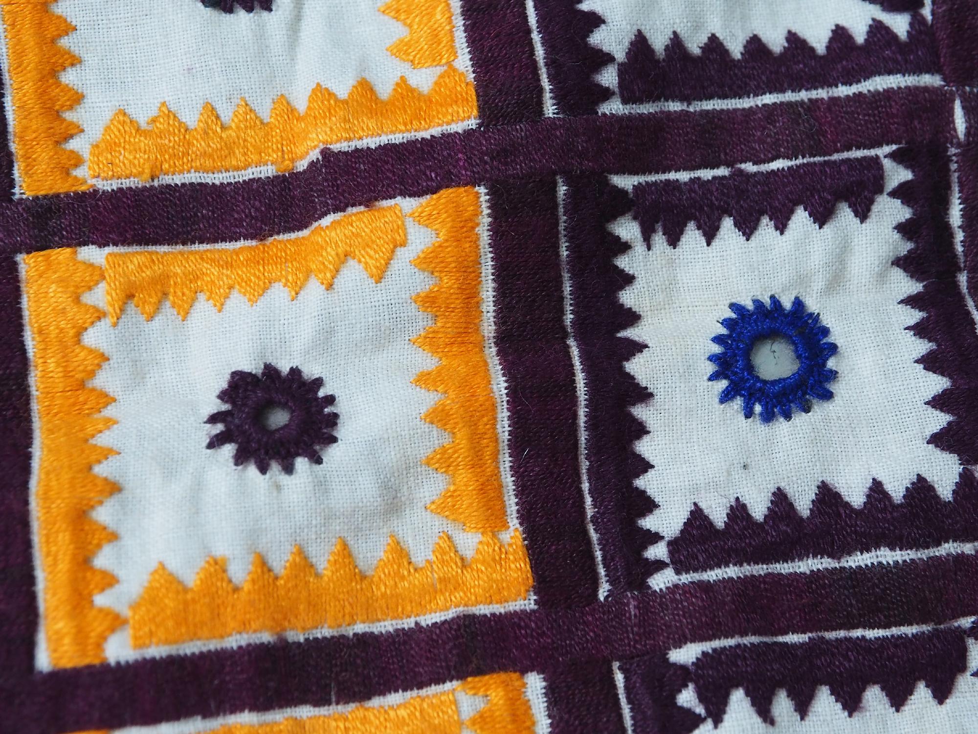 hand embroidered banjara groom wedding headdress Sindh Pakistan. No:21/4