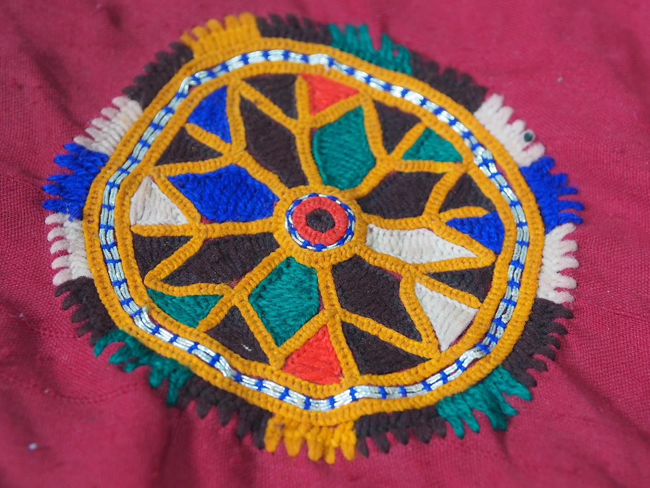 hand embroidered banjara groom wedding headdress Sindh Pakistan. No:21/ 8