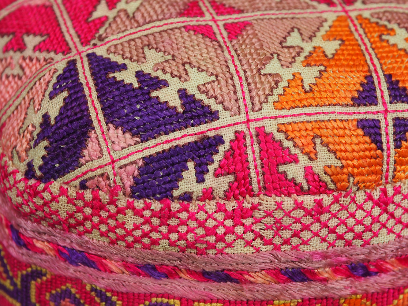 hand embroidered Women's Caps and Ceremonial Headdress from Gilgit-Baltistan No:21/ D