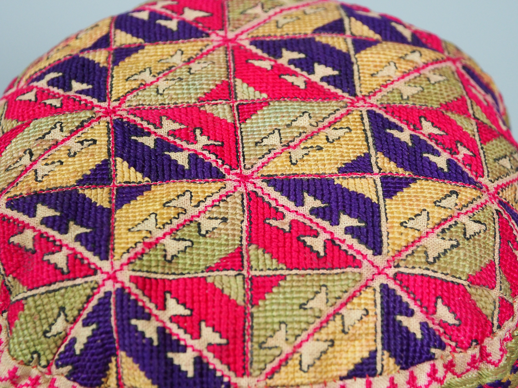 hand embroidered Women's Caps and Ceremonial Headdress from Gilgit-Baltistan No:21/  F