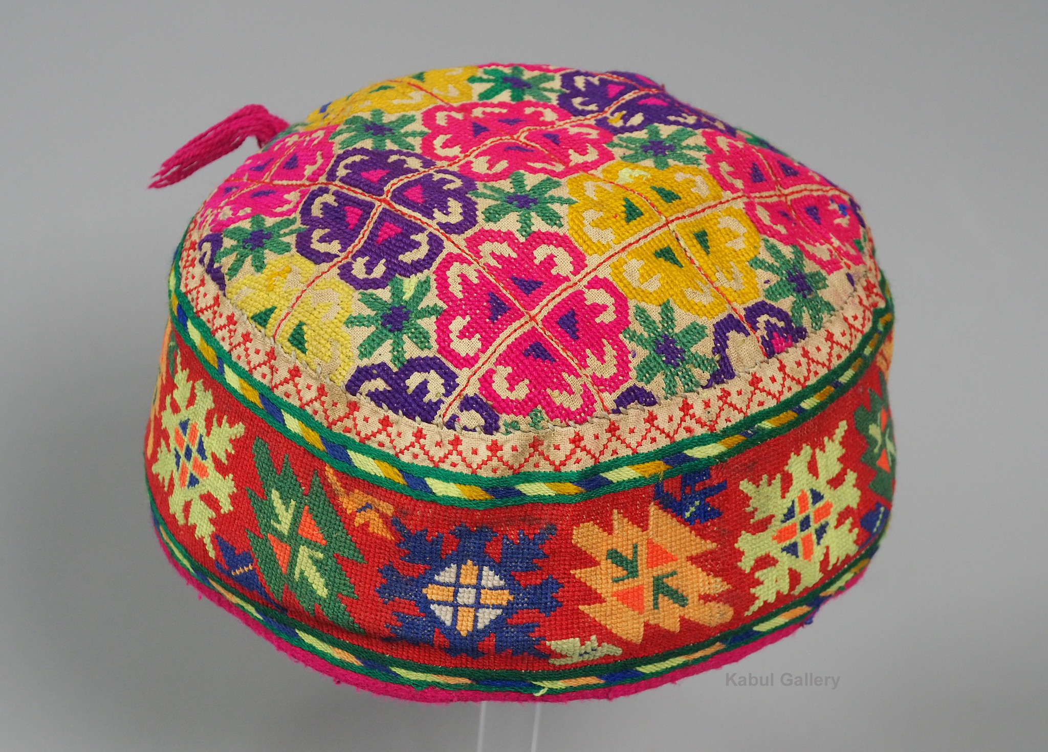 hand embroidered Women's Caps and Ceremonial Headdress from Gilgit-Baltistan No:21/H