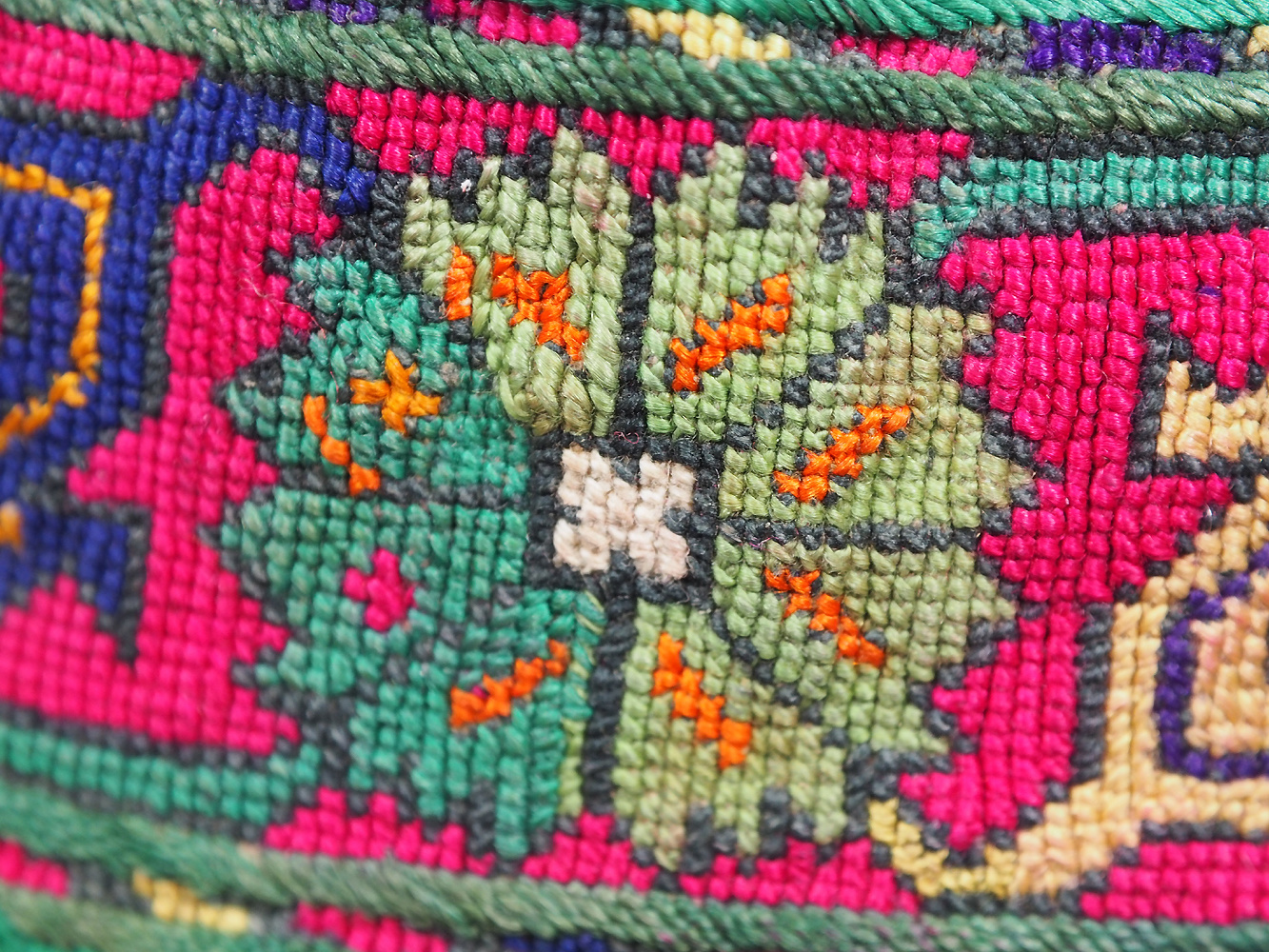hand embroidered Women's Caps and Ceremonial Headdress from Gilgit-Baltistan No:21/ i