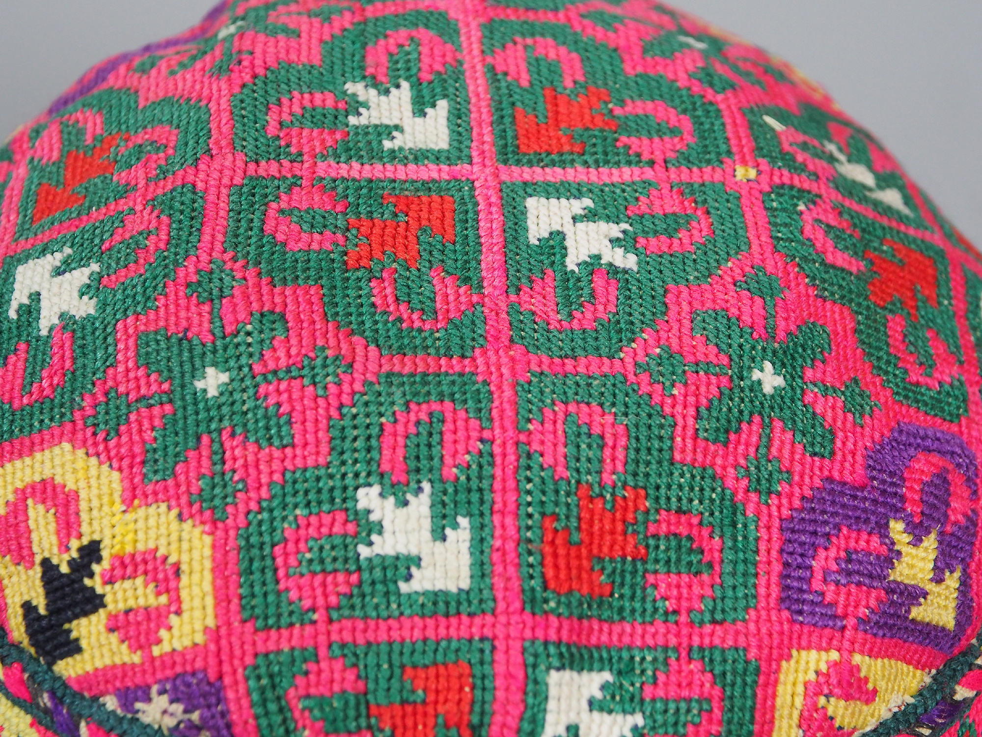 hand embroidered Women's Caps and Ceremonial Headdress from Gilgit-Baltistan No:21/ j